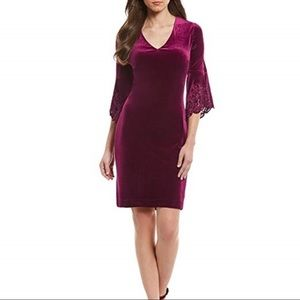 Antonio Melani Velvet Burgundy Dress NWT - Size 4